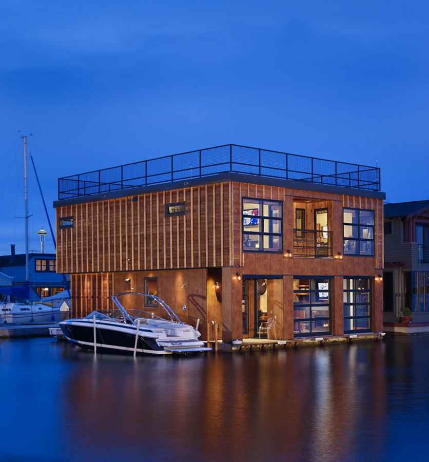 Lake Union Float Home: Seattle Float House, Washington - e ...
