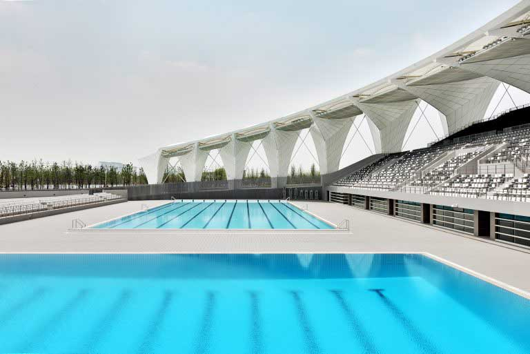 Shanghai oriental sports center building e architect for Sport swimming pool design