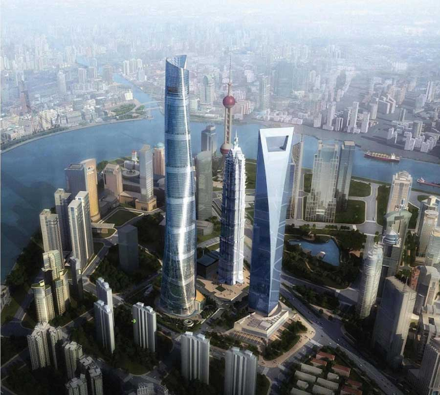 jin mao tower pudong shanghai e architect. Black Bedroom Furniture Sets. Home Design Ideas