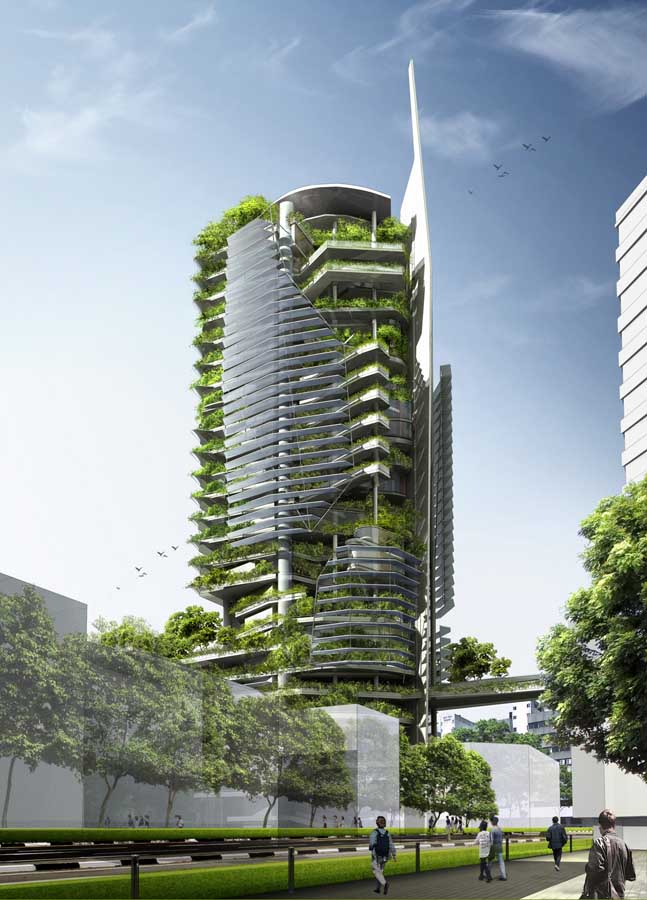 tower singapore editt building ecological architecture ecology yeang hamzah architect tropics sdn facade amazing jpgs designed response site architects sustainable