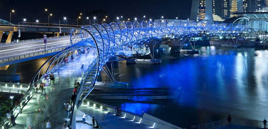 Contemporary bridges designs structures e architect for Top architects in singapore