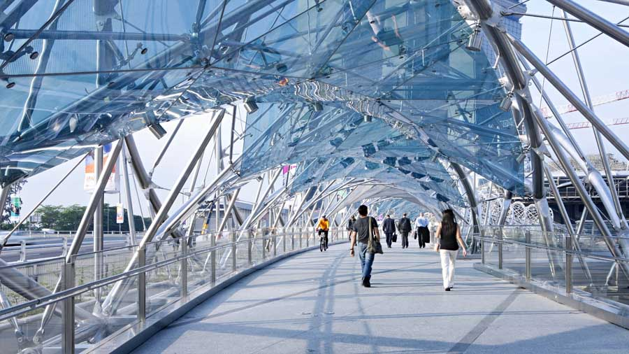 Helix bridge singapore cox rayner architects e architect for Design bridge singapore