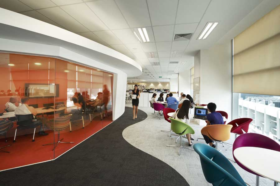 Hsbc fit out singapore south east asian office design e for Office fit out