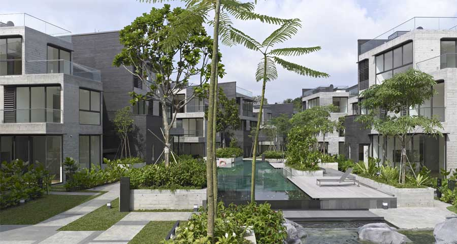 Mont Timah, Cluster Housing: Singapore Residential - e-architect on asymmetric house design, color house design, country house design, home house design, business house design, biosphere house design, school house design, dome house design, circle house design, windows house design, cottage house design, shell house design, common house design, flat house design, semi d house design, simple house design, cave house design, classic house design, square house design, beach house design,