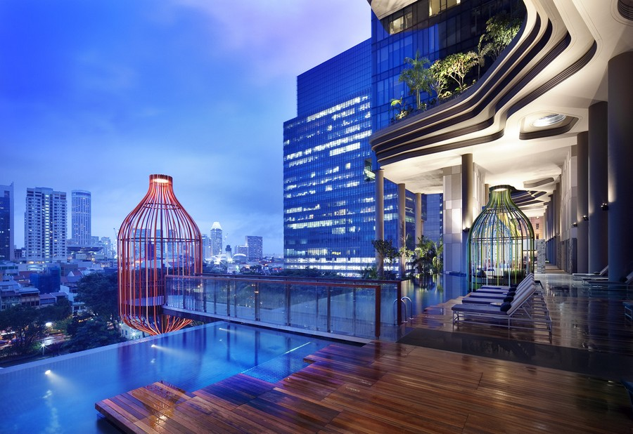 Parkroyal on pickering singapore building e architect for Sky design hotel