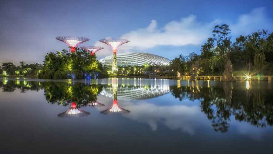 Gardens by the bay conservatories singapore biomes e architect - Bay architecture ...