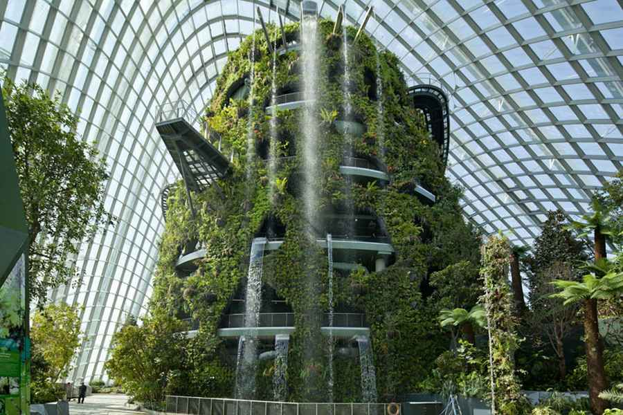 Gardens by the bay conservatories singapore biomes e for Indoor gardening singapore