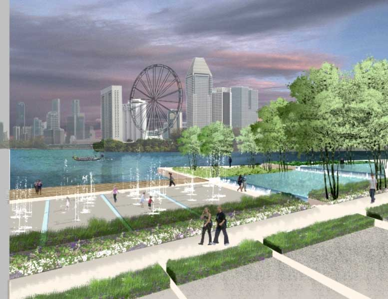Singapore landscape waterfront gardens contest e architect for Waterfront landscape design