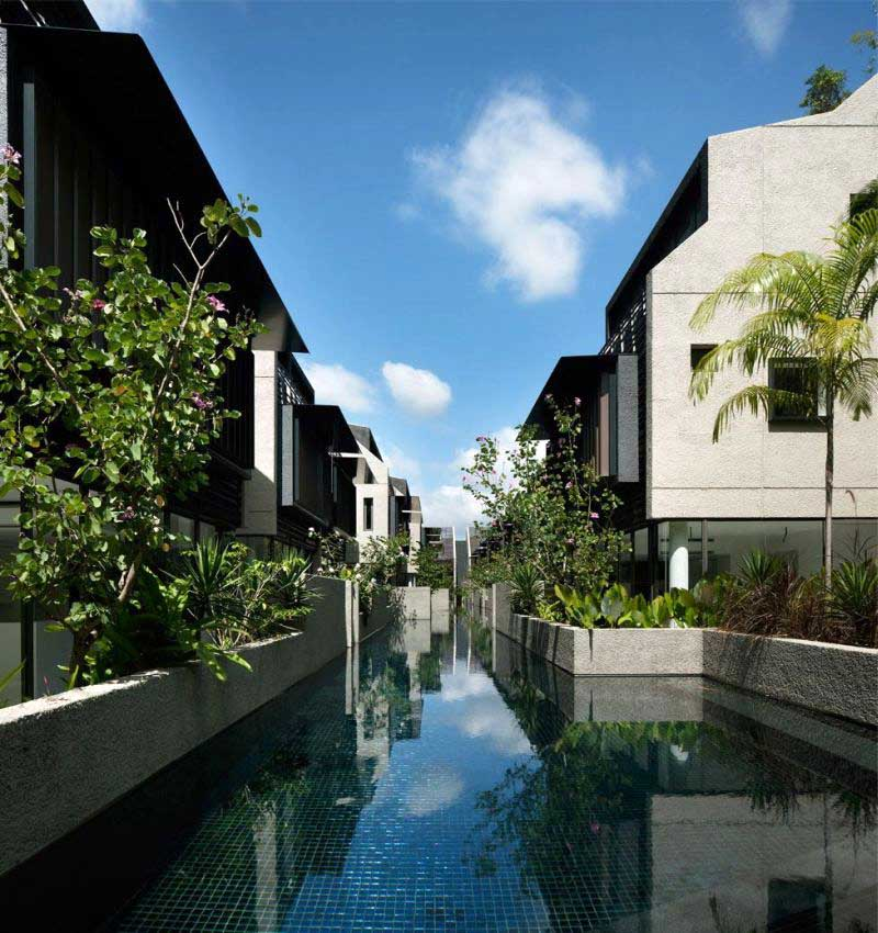 Landscape Design Outdoor Construction Residential: Cluster Housing Singapore