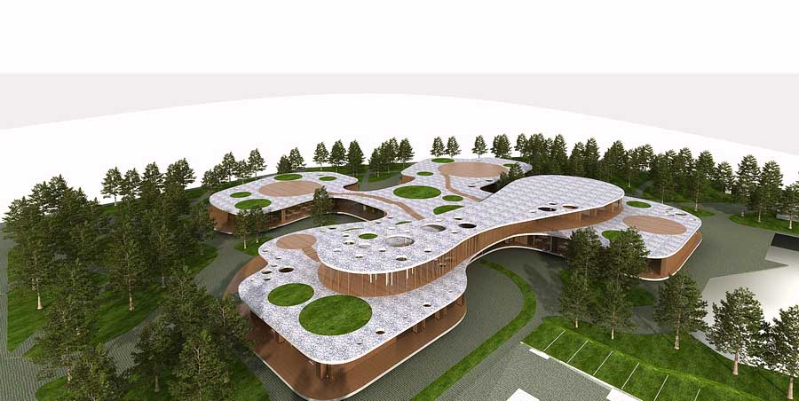 Four Leaf Clover Kindergarten Slovenia Nursery Building