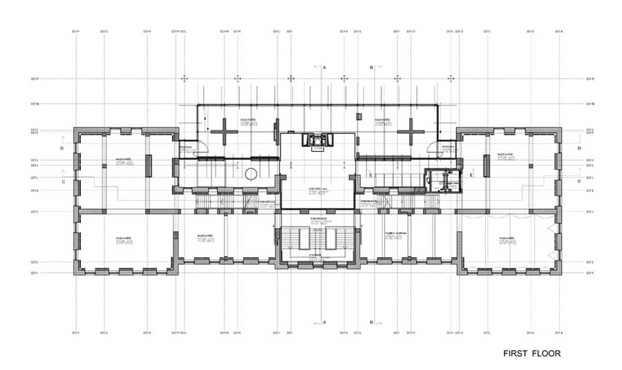 Cross Section Sections Site Plan First Floor
