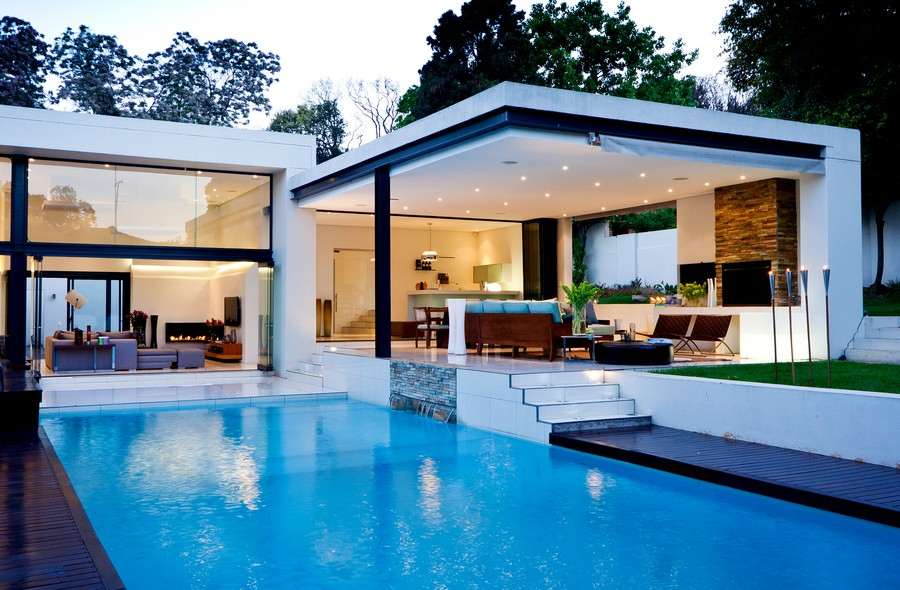 pool house house with pools house mosi johannesburg residence e architect - Plan Pool House Piscine