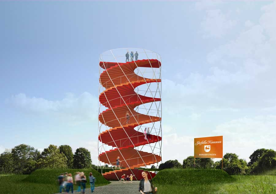 Barkarby Observation Tower Swedish Design Competition E Architect