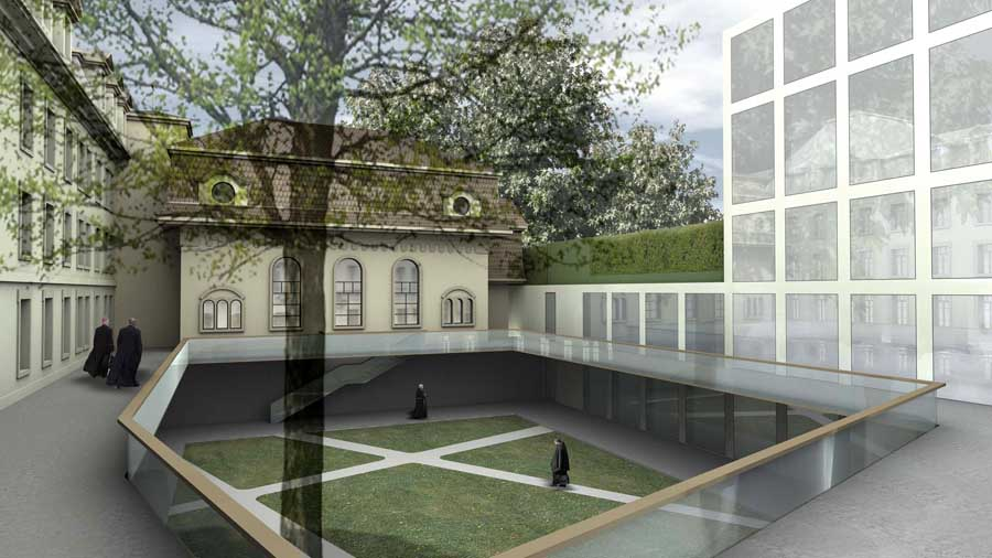 Fribourg library switzerland building e architect for Architecture suisse