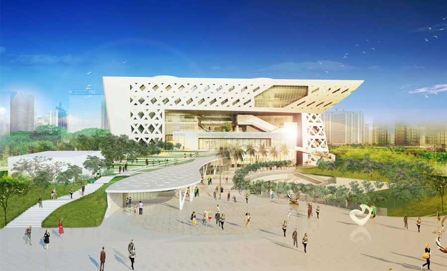 Kaohsiung library competition mak architects e architect for Architecture companies qatar