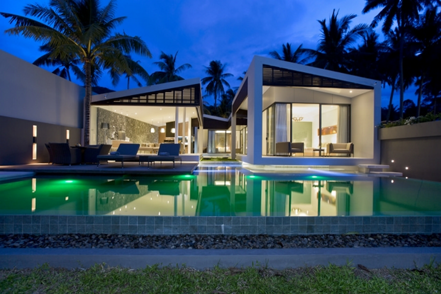 Contemporary house designs e architect for Beautiful villas images