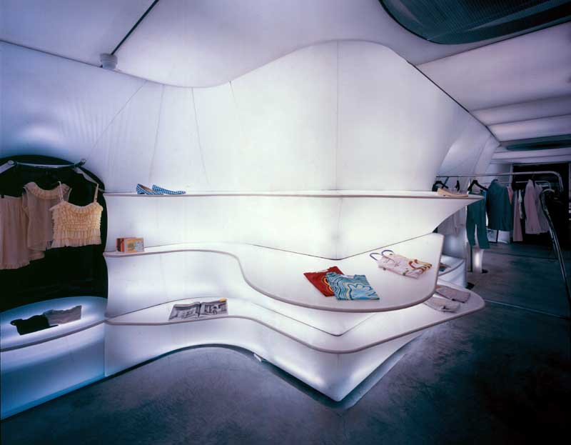 Retail space japan design by acconci studio http www e for Retail space design