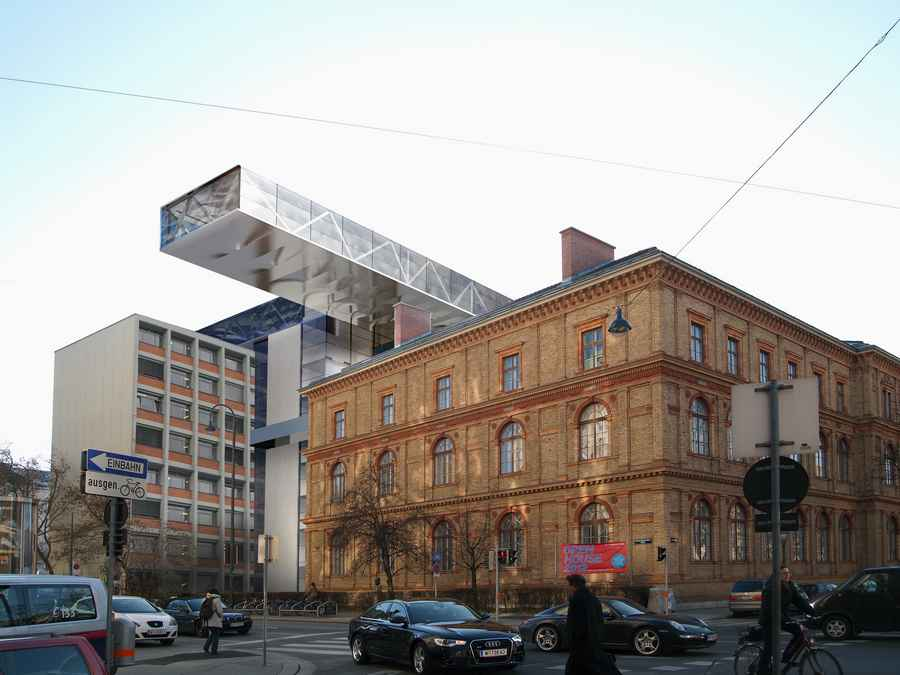 University of applied arts vienna building e architect for Architecture vienne