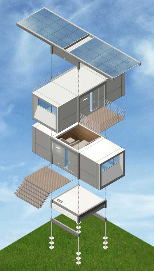 Prefabricated house prefab home design e architect for Design your own prefab home