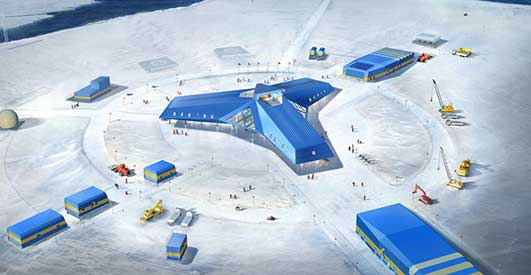 JanAntarctica Research Station Development by Space Group + KOPRI