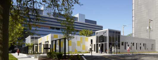 Early Childcare Center West University of Chicago Building design by Ross Barney Architects