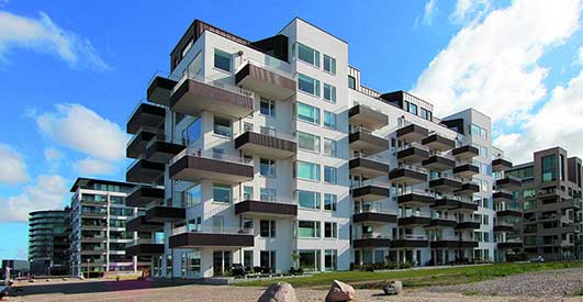 Kajkanten Housing Copenhagen - contemporary Danish Architecture