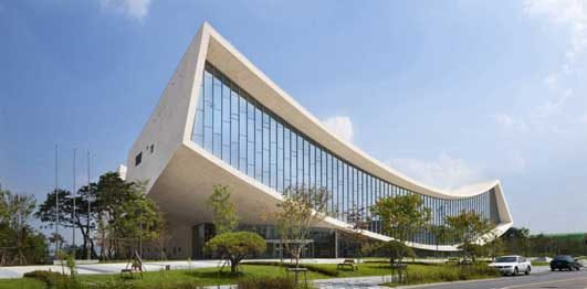 National Library of Sejong City Korea design by Samoo, Architects & Engineers