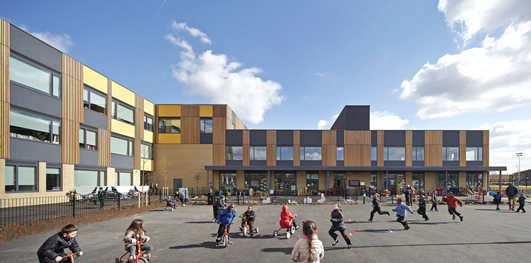 Oasis Academy in Enfield building design by John McAslan + Partners