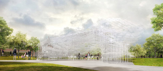 Serpentine Pavilion building
