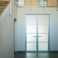 Aluminium double swing door