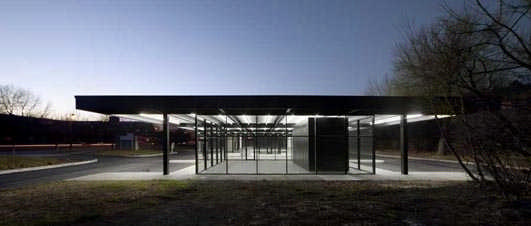 Mies van der Rohe gas station on Nuns Island, Montreal