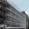 Delancey Parking Garage design by Michielli + Wyetzner Architects