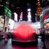 Times Square interactive heart installation