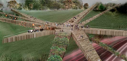 Pedestrian Bridge Design Peru design by OOIIO Architecture