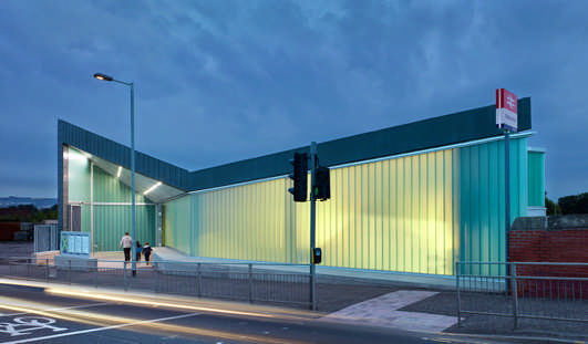 Dalmarnock Rail Station Glasgow building design by Atkins Architects