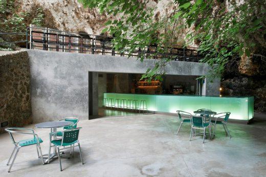Bar in the Caves of Porto Cristo Mallorca building