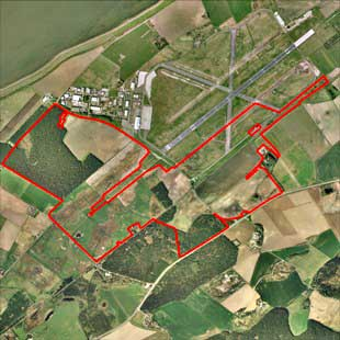 Inverness Airport Expansion aerial view of proposed site