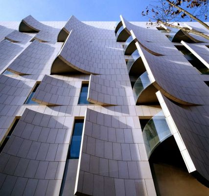 Hotel Omm Barcelona building curved facade
