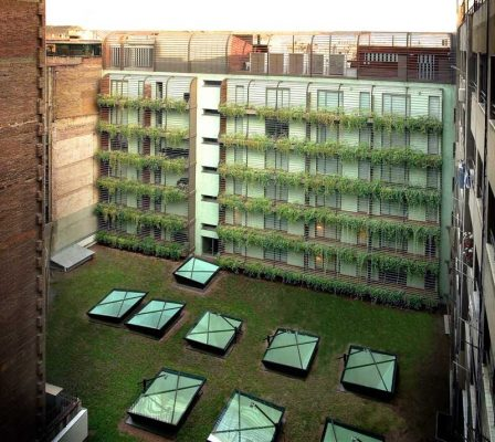 Hotel Omm Barcelona rooflights green roof