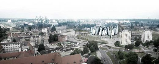 Polish Solidarity Centre Competition Entry design by Arkitema