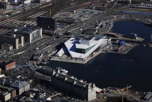 Oslo Opera House Building, Norway aerial photo