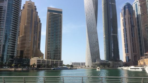 Dubai Marina tower buildings