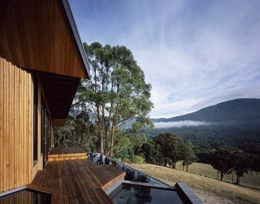 Falvey House Warburton residence view to nature