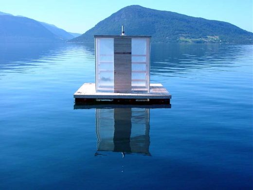 Floating Sauna, Norway - Hardangerfjord building