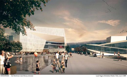 Deichman Library Competition Oslo by Atelier Oslo Architects and LundHagem Architects