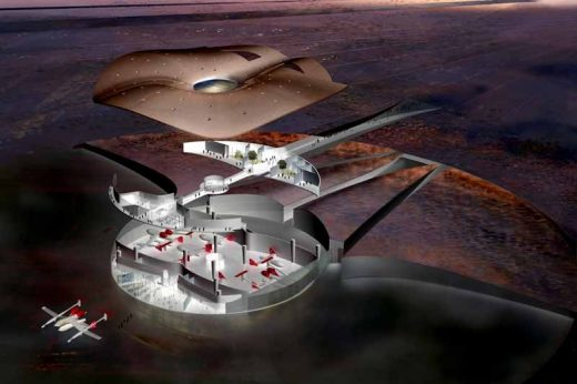 Spaceport New Mexico building in USA