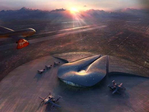 Spaceport New Mexico building design by Foster + Partners in USA