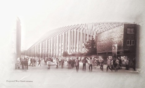 Stamford Bridge Stadium design by Herzog & de Meuron