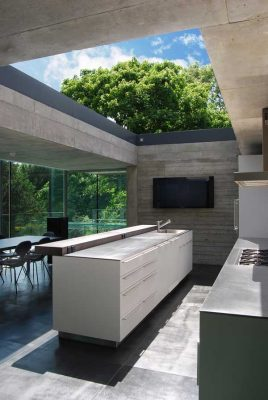 Highgate House London kitchen open to sky