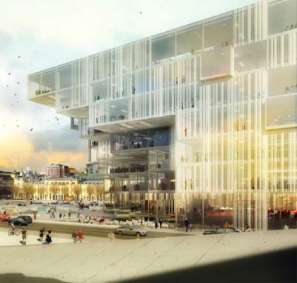 Deichman Library Norway : Oslo</h1> Oslo Architecture Competition Entry - design by Schmidt Hammer Lassen, architects